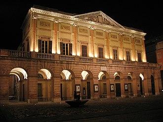 Music of Emilia-Romagna - The Teatro Alessandro Bonci in Cesena.