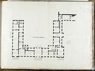 Château de Chanteloup - Image: Château de Chanteloup, plan du rez de chaussée – RMN