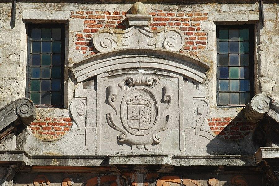 Belgique - Brabant wallon - Château de Rixensart - Portail central - Blason