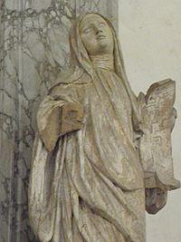 Champeaux (77) Collégiale Saint-Martin Statue de Sainte-Fare.jpg