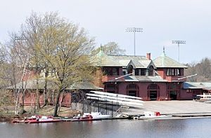 Newell Boathouse - Image: Charles River Newell Boathouse