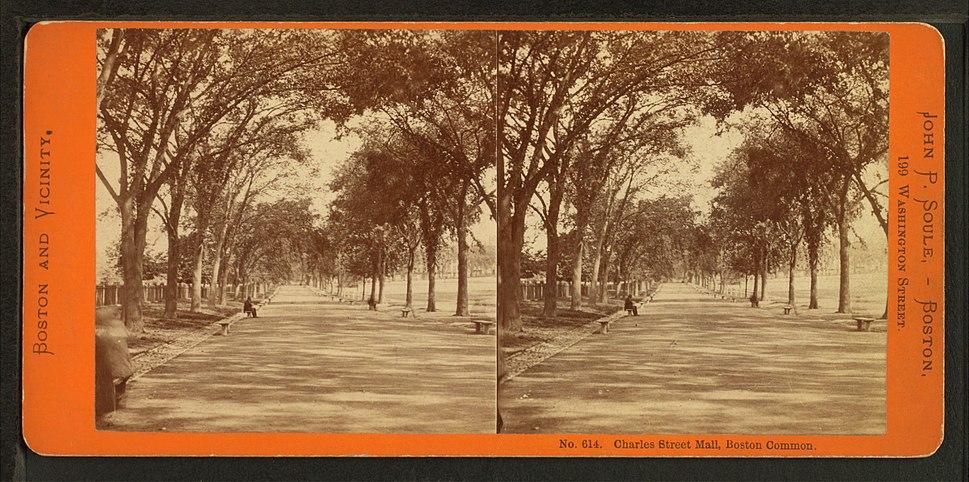 Charles Street Mall, Boston Common, by Soule, John P., 1827-1904 3