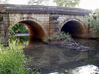 Émiland Gauthey - Image: Chatenoy le Royal Pont de la Thalie projeté par Gauthey 1