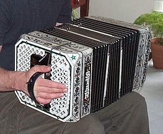 Chemnitzer concertina large, square concertina used for traditional German and polka music