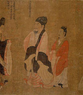 Chen Shubao - Tang dynasty portrait of Emperor Xuan by Yan Liben