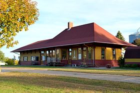 Chicago, Milwaukee, St. Paul, Pacific Depot Delmar.JPG