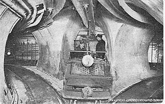 Chicago Tunnel Company - Under the streets of Chicago, pre 1906.
