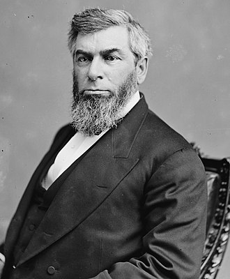 Chief Justice Morrison Waite ruled in United States v. Cruikshank (1875) that the right of assembly was a secondary right to the right to petition. Chief Justice Morrison Waite.jpg