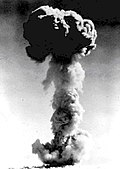 Mushroom cloud of the Project 596 test