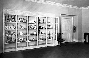 China Room - The room in 1918 during the Wilson administration, looking northwest, when it was called the Presidential Collection Room.