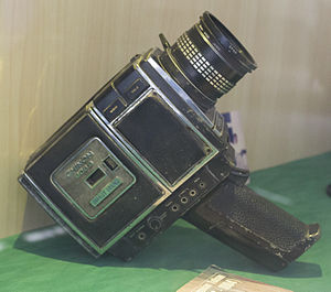 National Press Monument - A Chinon 606S camera at the museum
