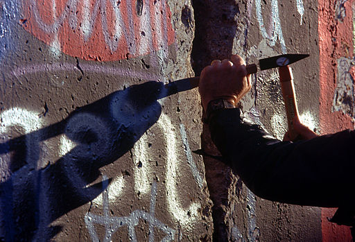 Chipping off a piece of the Berlin Wall
