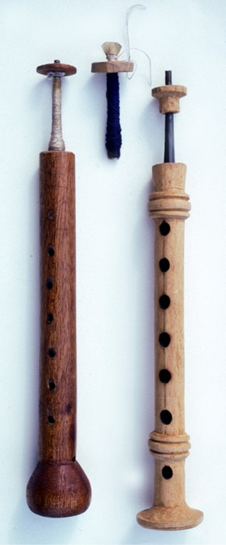 Chirimia -  The chirimía on the left is from Jacaltenango, Guatemala, and the one on the right is from Antigua, Guatemala.