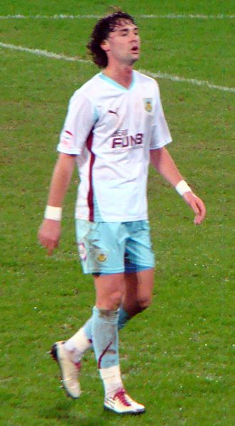Chris Eagles - Eagles playing for Burnley in February 2011.
