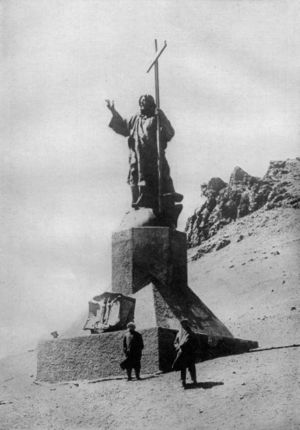 Christ the Redeemer of the Andes - Photo showing the relative size of the statue