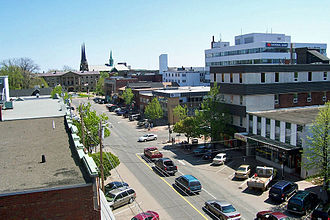 Charlottetown - View of Downtown Charlottetown from atop the Atlantic Technology Centre.