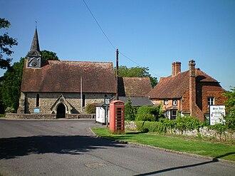 Plaistow, West Sussex - Image: Church and pub, Plaistow