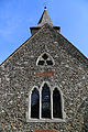 Church of St Michael, Leaden Roding, Essex, England - west window and spire.jpg