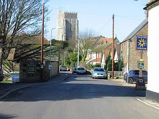 St Nicholas-at-Wade village in the United Kingdom