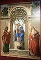 Cima, Madonna col Bambino in trono tra i santi Giacomo apostolo e Girolamo, 1489 (vicenza, palazzo chiericati) 02.JPG