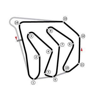 1982 Caesars Palace Grand Prix - Image: Circuit Caesars Palace