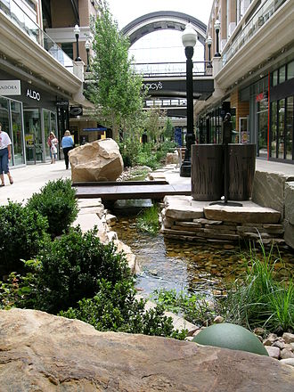 City Creek Center - City Creek running through the City Creek Center