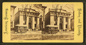City Hall (Salem, Massachusetts) - City Hall, built 1838 (photo later 19th century)