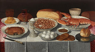 Still life with Shellfish and Eggs