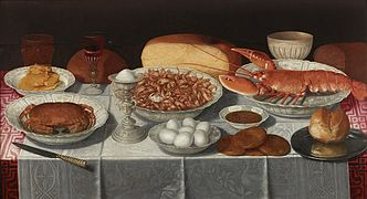 Clara Peeters - Still life with Shrimp and Eggs - 1630s.jpg