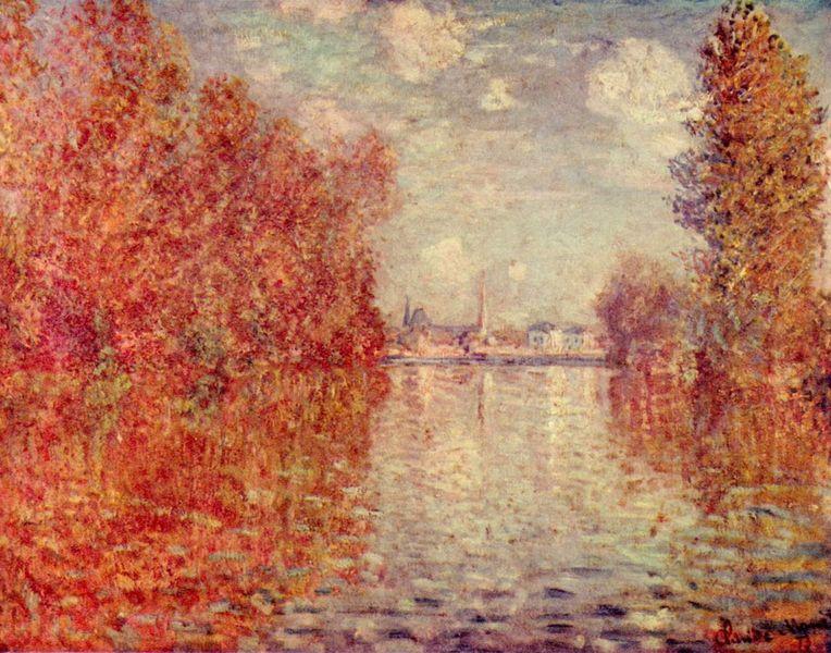 Otoño en Argenteuil de Monet