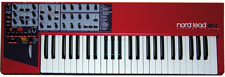 The Clavia Nord Lead series released in 1995. Clavia Nord Lead 2x front.jpg