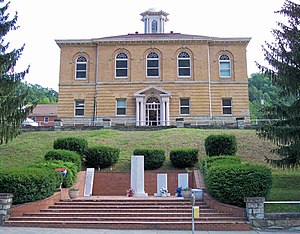 National Register of Historic Places listings in Clay County, West Virginia - Image: Clay County Courthouse West Virginia
