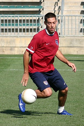 Clint Dempsey - Dempsey training with the United States in April 2006