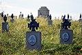 Cmentarz wojenny nr 118 – Staszkówka – widok na nagrobki fot. nr 4 – stan na wrzesień 2019.jpg