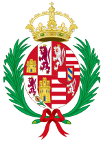 Coat of Arms of Anna of Austria (1549-1580), Queen Consort of Spain.svg