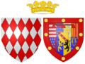 Coat of arms of Marie of Lorraine as Princess of Monaco.png