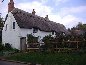 Naseby - One of the two remaining cob and thatched cottages in the village