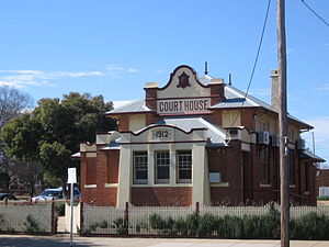 Cobram - The 1912 court house.
