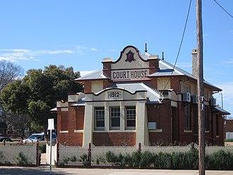 Cobram - The 1912 court house.
