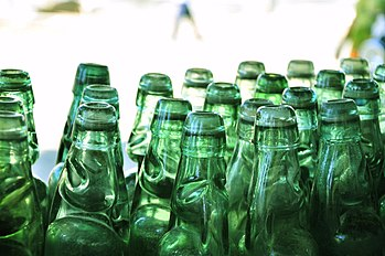 English: Codd-neck Soda Bottles