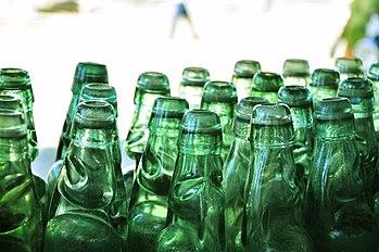 English: Codd-neck Soda Bottles