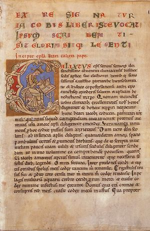 Codex Calixtinus - The opening letter purporting to be from Pope Calixtus II