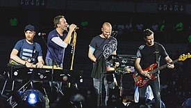Coldplay performing in 2017.