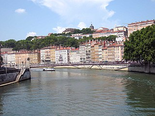 hill in the town of Lyon, France