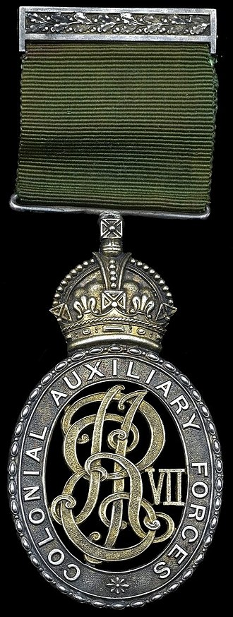 Colonial Auxiliary Forces Officers' Decoration - Image: Colonial Auxiliary Forces Officers' Decoration (Edward VII)