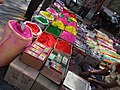 Colors for sale in the market, Giridih, Jharkhand, India 03.jpg