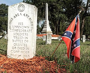 Battle of Olustee - Graves of unknown Confederate soldiers killed at Olustee or died in Confederate hospitals located in Lake City, Florida.