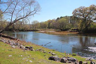 Pumpkinvine Creek - Confluence of Pumpkinvine Creek and the Etowah River