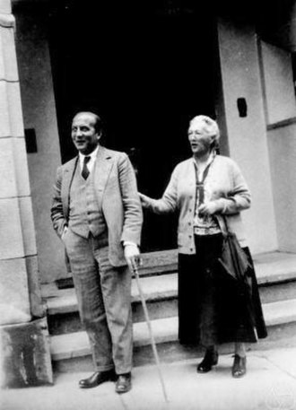 David Hilbert - Käthe Hilbert with Constantin Caratheodory, before 1932