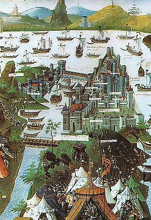 Fall of Constantinople - Image: Constantinople 1453